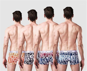 Modal Underwear Fashion Letter Printed No Trace Breathable Comfortable Boxers Fashion Mens Mid Waist Underpants Mens Designer