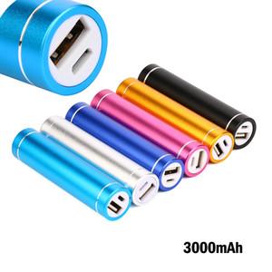뜨거운 판매 미니 다채로운 실린더 힘 은행 3000mAh 휴대용 USB 외장 배터리 충전기되는 PowerBank 아이폰 샤오 미 삼성