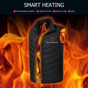 الرجال الكهربائية ساخنة المشي سترات سترات الشتاء التدفئة صدرية الحرارية الكهربائية الدافئة الملابس للرياضة المشي