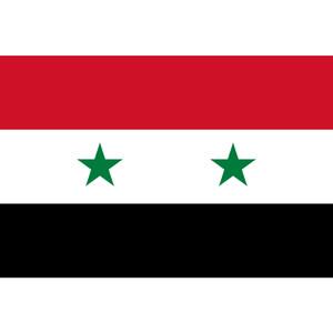 Alta qualità Syria Flag 3x5FT 150x90cm 100D poliestere ottone Occhiello personalizzato Bandiera pubblicità e decorazione, trasporto libero