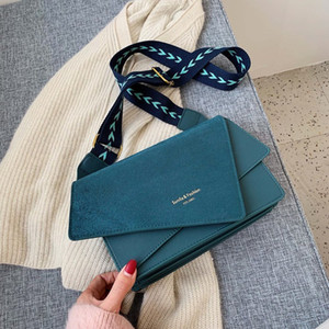 Quality matte bag female bag 2020 new Korean version of the tide wide shoulder strap shoulder fashion casual wild Handbags
