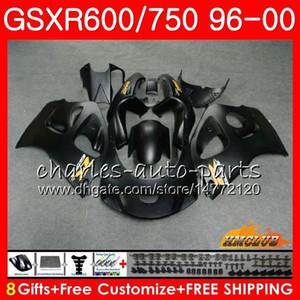 Vücut Suzuki Mat siyah SRAD GSXR 750 600 GSXR600 GSXR750 96 97 98 99 00 1HC.8 GSXR750 GSXR600 1996 1997 1998 1999 2000 Fairing kiti