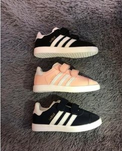 2019 nueva venta zapatos de gamuza Chilren Gazelle escotados Casual zapatos planos de las zapatillas de deporte para unisex Zapatillas zapatos que caminan capacitadores 25-35
