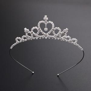 Kinder-Frauen-Mädchen-Hairpin Princess Crown Silver Crystal Haar-Band-Schmucksache-Diamant-Tiara-Stirnband-Haar-Zusätze