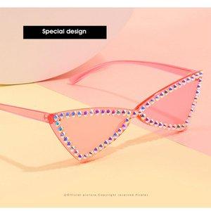 Мода кристалл алмаза Ne Street Выстрел Sunglass 2020 Новый ретро солнцезащитные очки Fashion Street Выстрел площади Большой кадр Мужчины и Женщины Culos Gylka M