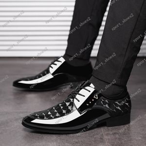 2019 winter new shiny leather Outdoor men's business formal shoes large size men's shoes wild wedding shoes size38-48 #003