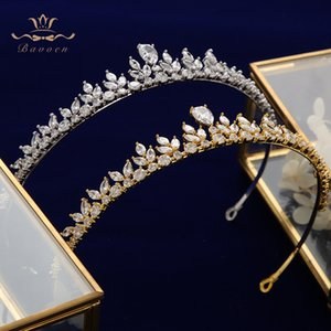 Y200409 joyería Bavoen espumoso circón vestido de novia accesorios de plata Novias Coronas Tiaras cristal plateado Hairbands noche pelo