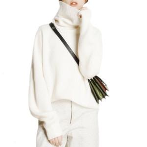 Tailor Schafe Winter Turtleneckstrickjacke Frauen verlieren Kopf dicker kurze Amicor weiblichen Übermaß sweaterMX190925