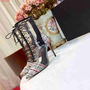 As mulheres novas dos saltos altos da forma 2019 calçam o tipo elegante das botas das mulheres do desenhista de tipo do desenhador famoso fornecedor