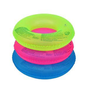 70cm 90cm fluorescent gonflable natation unisexe anneau piscine pneu Float Tube plage Piscine Aide extérieure Outils pour les sports nautiques