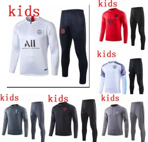 Paris Kids Soccer Tracksuit Kit Real Madrid Enfant 2019 city Rome Training Suit Marseille tracksuits om survetement child Football