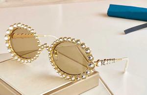 donne progettista occhiali da sole 0620 intarsiato con occhiali cristallo scintillante diamante telaietto ovale superiori UV400 vetri di modo con il caso