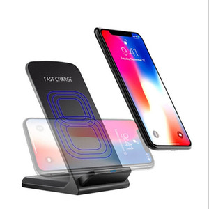 Neue QI Wireless QC2.0 QC 2.0 10W QI Wireless Schnellladegerät Ladestation Halter für Samsung Apple iPhone X 8 Plus
