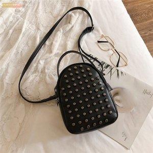2020 Women Crossbody Mobile Phone Shoulder Bag Pouch Case Rivet Handbag Satchel Purse Wallet Zip Casual Handbags Fashion 25