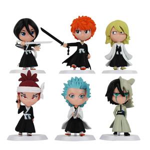 6Pcs Set Anime Bleach Ichigo Ulquiorra cifer Renji Ichimaru Gin Toushirou PVC Action Figures Toys Dolls Y200421