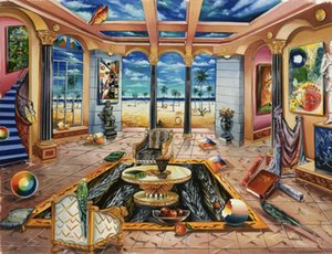 Alexander Astahov Beach House Home Decor Handpainted &HD Print Oil Painting On Canvas Wall Art Canvas Pictures 191205