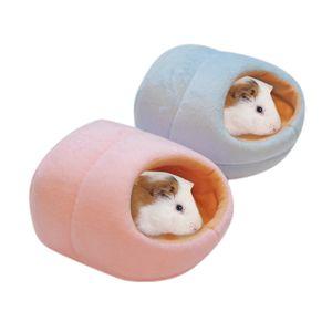оптовые новые симпатичные Крысы Hamster Зимний теплый флис висячие Клетка Гамак Симпатичный дом с кроватью Мат для малых Furry Animals 2019, перевозка груза падения