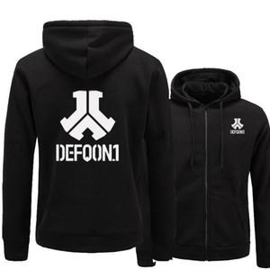 Ceket Defqon.1 Hafif Fermuar Sonbahar Hoodie Ceket Giyim Erkekler için Tişörtü Sıcak Rahat Tarzı M-2XL