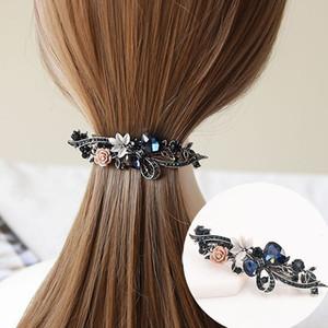 Crystal Blue Flower Girl Haar-Accessoires Schmuck Mode Damenspange Hairpin Kopfbedeckung Elegante Haarspange Weihnachtsgeschenk