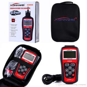 2019 KONNWEI MS509 KW808 OBD2 OBDII EOBD Scanner Código de carro Leitor Tester de diagnóstico com caixa de varejo UPS DHL frete grátis