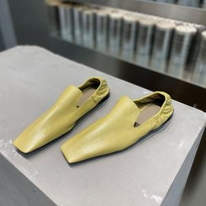 chaussures plates en cuir nouvelle mode classique réel chaussures en peau d'agneau femme occasionnels des formateurs d'été Taille 34-41 du multicolore avec la boîte