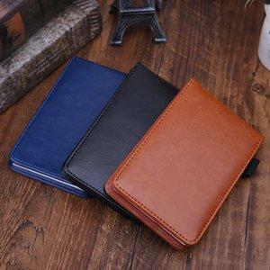 Çok fonksiyonlu Pocket Planlayıcısı A7 Notebook Küçük Not Defteri Not Defteri Deri Kapak İş Günlüğü Notlar Büro Okul Kırtasiye