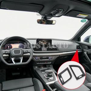 For Audi Q5 FY 2018 ABS Carbon Fiber Interior Side Air Condition Vent Cover Trim 2pcs