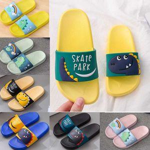 Cartoon Children Sandals For Girls Boys Summer Indoor PVC Flip flops Designers Women Men Slippers Kids Red Yellow Blue Black Pink Anti Slip