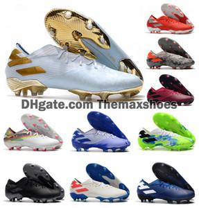 2020 Sıcak Erkek Messi Nemeziz 19.1 FG ace 19 + x 19.1 Kayma-On Futbol Ayakkabı Futbol Düşük Ayak bileği Açık Boots Kramponlar Boyut US6.5-11
