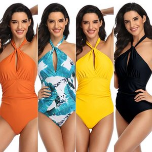2020 New Color Bikini Sexy One Piece Swimwear for Women Gradient Print Fashion Swimsuits for Summer