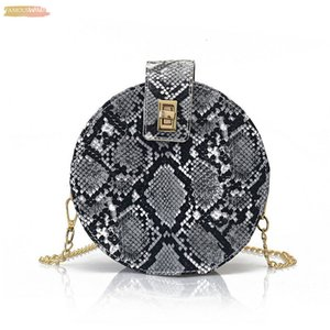 New Women Bag Lovely Leather Round Messenger Shoulder Bag For Lady Zipper Envelope Evening Handbag Purse Fashion Crossbody Bag