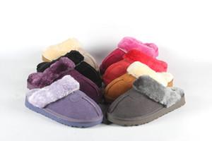 deslizadores de las mujeres de los hombres de invierno de lujo y señoras de la marca de piel cubierta sandalias cálidas zapatillas zapatillas casa con sandalias de uñas