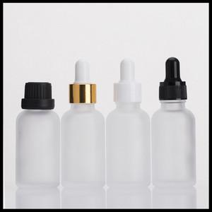 30 мл прозрачных матовых стеклянных бутылок эфирных нефтяных маслом с детской крышкой и стеклянной капельницей E Жидкие бутылки