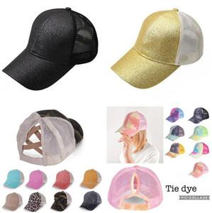 At Kuyruğu Beyzbol Şapkası Batik Pullarda Dağınık Bun Şapka Criss Çapraz Snapback Yaz Güneşlik Açık Ev Partisi Şapka OOA8165 Caps Yıkanmış