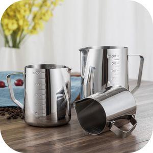 12/20/30 oz Aço Inoxidável Leite Espumante Jarro Com Medições Em Ambos Os Lados Perfeito para Máquinas De Café Expresso, Leite Frothers, Latte Art