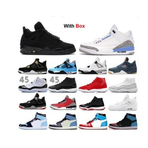 11 11s Low Concord Bred 4 4S Black Cat-Basketball-Schuhe 2020 Red Cement Bred Concord Männer Sneakers White Cement Grey kühlen