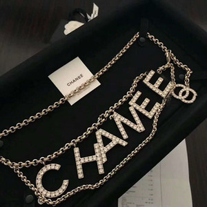 New costume latão de diamante carta clássico cintura cadeia feriado vestido de presente de aniversário