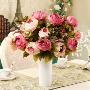 웨딩 홈 인테리어 실크 모란 영국 13 헤드 / 꽃다발 모란 인공 꽃