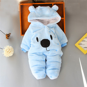 Baby rompers 4 colors Infant Boy Designer Clothes for Newborn baby Girl clothes Autumn Winter Girls Snowsuits jumpsuits Wholesale BJY984