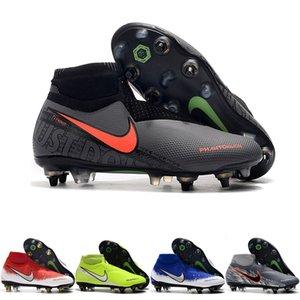 2019 hommes chaussures de football Phantom VSN Elite DF SG-Pro crampons de football Anti Clog Crampons de chaussures de football CHUTEIRA noir