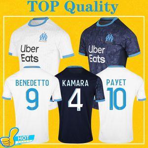 Olympique de Marseille Maillot OM Soccer Jersey Kit Bambino Uomo 2021 Maillot de foot 20 21 PAYET BENEDETTO SAKAI KAMARA Football Shirt