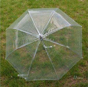 Partido transparente burbuja profundo Cúpula paraguas a prueba de viento lindo Gossip Girl Paraguas Claro princesa seta Paraguas Decoración de la boda 2019 A42302