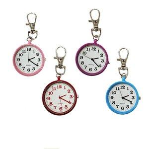 Big Round Key Ring Quartz Watch Keychain Pendant Chain Sport Ring Women Mini Necklace Watch Children Keychain Nurse Pocket Watch YD0539