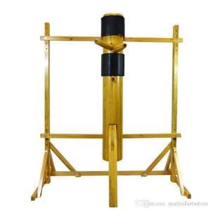 ala artesanal Chun madeira sólida posição livre boneco de madeira com armação de madeira simulado para fu