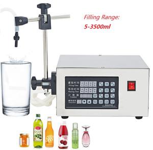 KC280 Dijital elektrik sıvı dolum makinası 220 V / 110 V içecek su Süt Parfüm Yağı rafı paketleme ekipmanları Kantitatif dağıtıcı