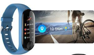 Pulsera inteligente deportiva 0.96 pulgadas TFT IPS Pantalla a color Pantalla deportiva Pulsera de frecuencia cardíaca Monitoreo de la presión sanguínea Smart Fitness Track Bracele