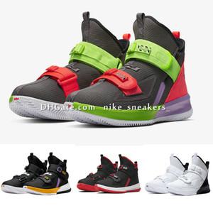 То, что Леброн солдат 13 мужская баскетбольная обувь для продажи lebrons XIII MVP Рождество BHM Oreo молодежные дети мальчики девочки кроссовки ботинки US4-12