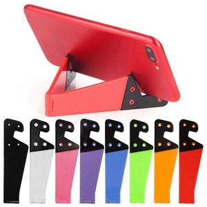 Cell Phone Support Tablet stand V-forme universelle mobile pliable Support de téléphone portable de support pour Smartphone Tablet PC Multicolor coloré V S