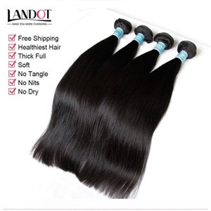 Indian Straight Virgin Hair 100% Indian Human Hair Weaves Bundles Unprocessed Indian Silky Straight Remy Hair Extensions Natural Color