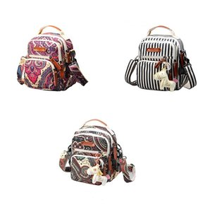 Multi-functional fashion canvas national trend womens backpack casual outdoor backpack wholesale